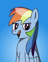 Rainbow Dash licks her lips by daimando