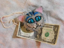 SOLD Needle Felted Cheshire Cat Hanger FOR SALE by CVDart1990