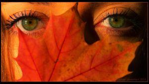 Autumn  Green Eyes by sweetpainter