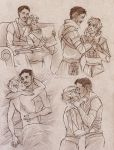 Commission 140 - Dorian/Fael sketchpage by Nike-93
