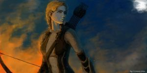 Katniss by molcray