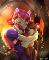 Annie and  Tibbers by Rolochan