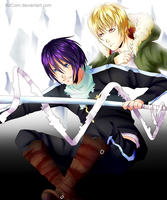 Noragami - Yato and Yukine by KirCorn