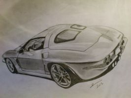 chevrolet corvette stingray 1963 drawing by zoky88