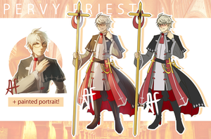 [CLOSED AUCTION] Pervy Priest by 3-X-E