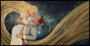Rapunzel and Flynn - Wedding by Laurine-Tellier