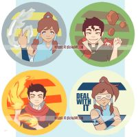 legend of korra pins by resubee