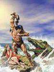 Conan and the alligator by Jubran