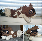 Crochet Zigzagoon by ArtisansShadow