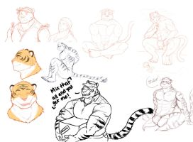 Sketches of Markus the Tiger by Alanwakeup