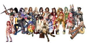 Final Fantasy Girls Collage by RomAntIcANgeal