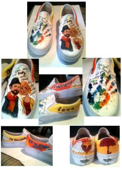 Sugarland Painted Shoes by abibuu