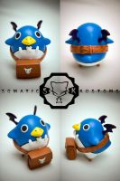 Fat Prinny sculpture by SomaKun