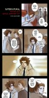 Supernatural+Castiel encounter by xanseviera