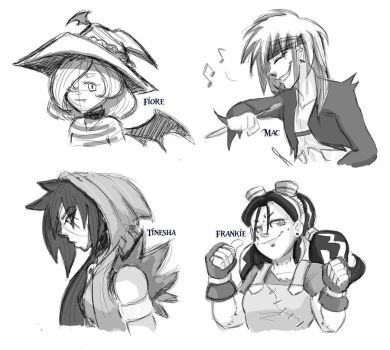GN Character Sketches by BatzyDRae