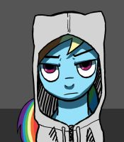 Rainbow Dash wearing hoodies by dannylim86