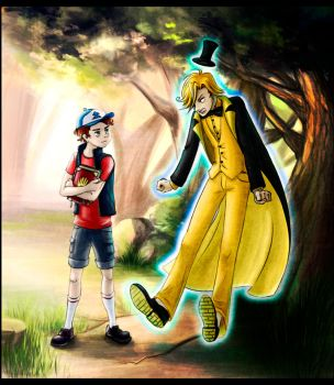 Bill Cipher and Dipper Pines by neveralice
