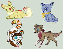 Mixed Collab Auction - Read Discription by KittKattAdoptables