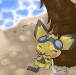 Relaxing on the beach by fuwante-chan