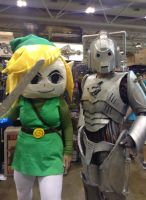 Link and a Cyberman by Fluffasaur-Panda