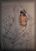 Velma in the hallway by MJBivouac