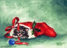 Christmas Kitten by rebekahlynn