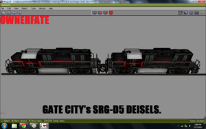 2 of Gate city's SRG-D5 Diesel locomotives view 2 by ownerfate