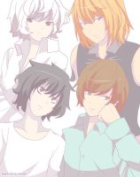 Light, L, Mello, and Near! by HaleyBopComet
