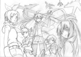 Vocaloid - Name sketch by Xandier59