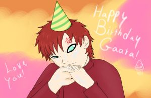 Gaaras birthday by kitkatnis