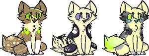 Cat adoptables 2 {OPEN!} by muddymugs