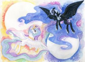 Celestia and Luna by JumboPorkBowl