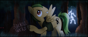 MLP - Forum signature for AncientGecko by ossie7