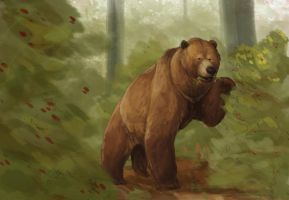 Bear Speedpainting by Ellakins