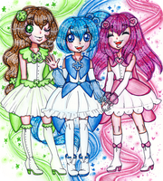 Boing Boing Pretty Cure! [ART TRADE] by sekaiichihappy