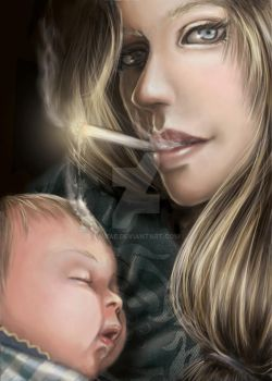 Smoking mothers by mbae