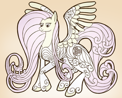 Art Nouveau Fluttershy by WillyGalleta