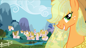 Applejack Ponyville Wallpaper by RDbrony16