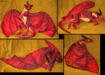 Red dragon-plushie by IsisMasshiro