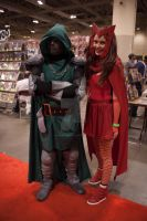 Dr. Doom and Scarlett Witch by QueenSheba24