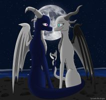 .:Commission:. Shadow and Ash by Lyorenth-The-Dragon