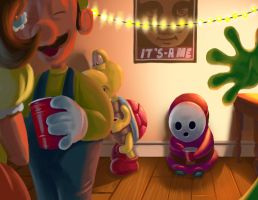 Shy Guy by McGillustrator