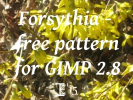 Forsythia Pattern by TheNaughtyPirate