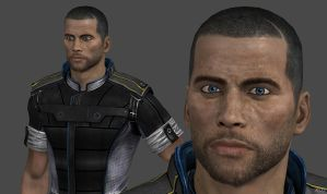 ME3 John Shepard Alliance Fatigues HR by g1pno