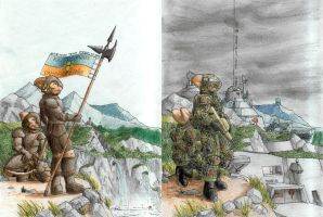 Borgal mountains now and then by A-Teivos