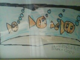 Fishes. Old drawing by blakeg14