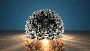 Melting Mandelbulb - another accident :} by Sabine62