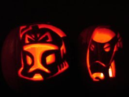 Clone Wars Pumpkins by DarthZemog