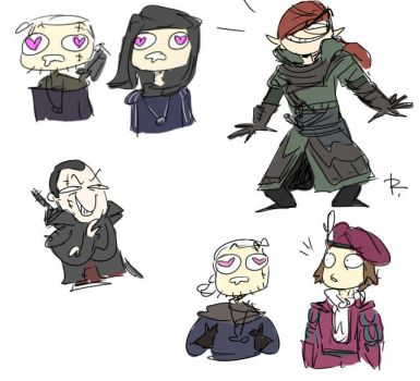 The Witcher 3, doodles 209 by Ayej