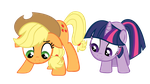 Applejack and Twilight: When will the seeds grow?? by RichHap